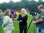 Debbie Rodgers interviewed by teevee reporter